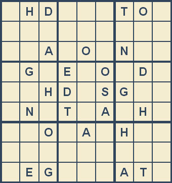 Mystery Godoku Puzzle for December 10, 2007