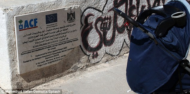 In the courtyard ofKhalil al-Wazir girls' school a plaque marks out that it's funded by the EU