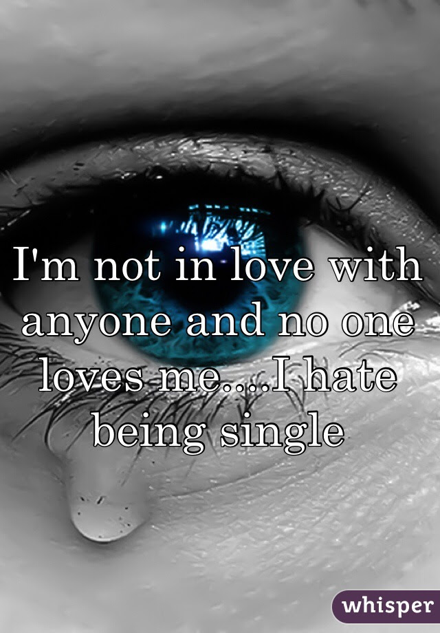 Im Not In Love With Anyone And No One Loves Mei Hate Being Single