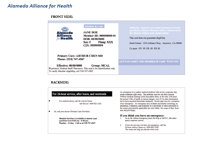 Download Medical Insurance Card In Ca Pictures