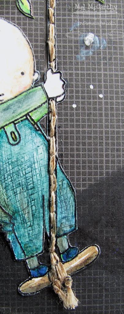 stitched rope MFT Boy & Dog - Tree Swing mel stampz