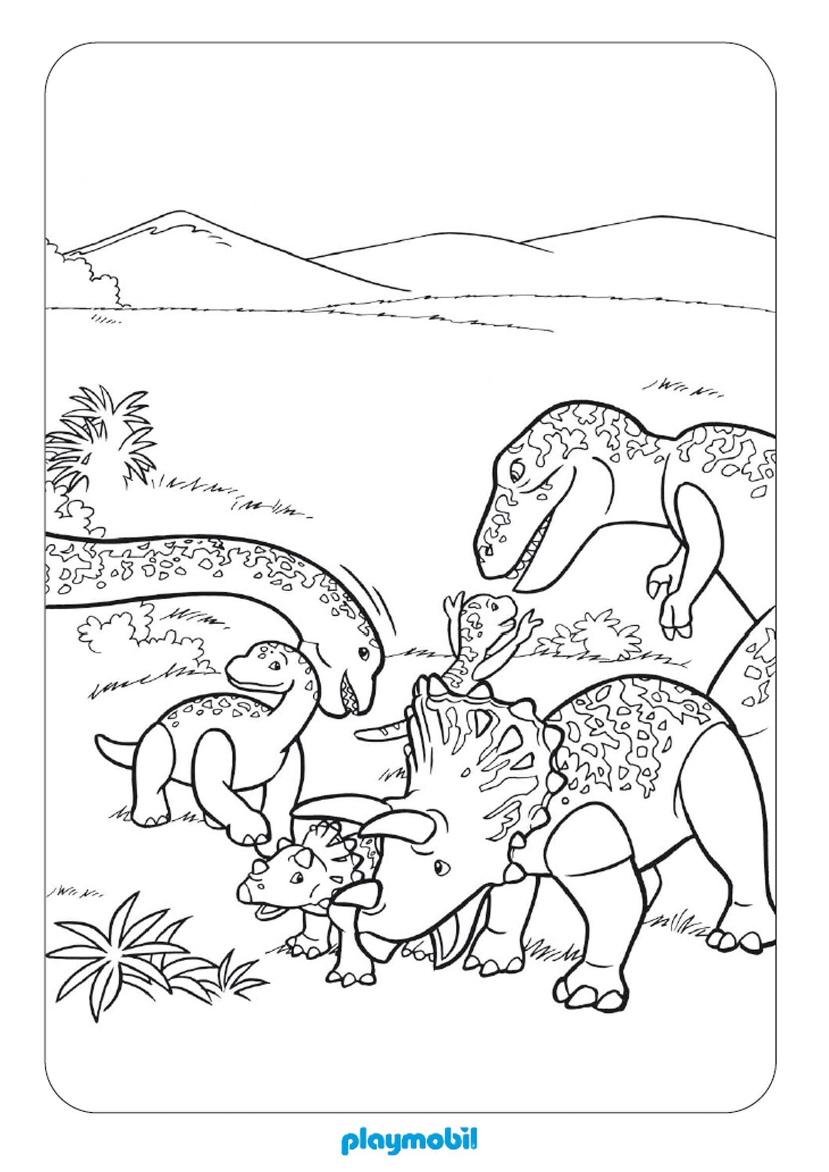 Dessin gratuit de dinosaure a imprimer et colorier