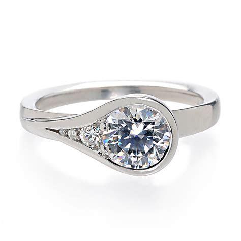 The Bezel Set Engagement Rings   Wedding Ideas and Wedding
