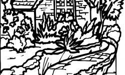 Köy Evi Manzara Boyama Sayfası