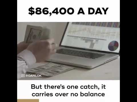 You have 86,400 A day