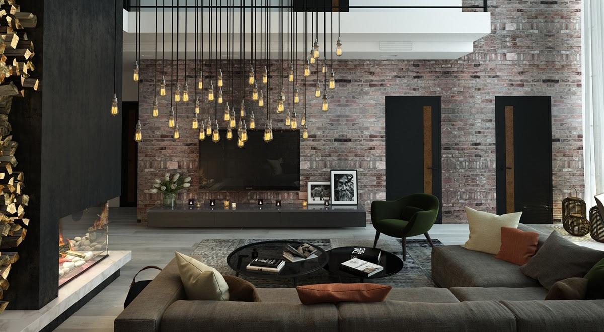 Dark Interior Style - Modern Luxury Living Room Ideas ...