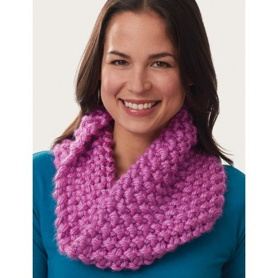 Super Size Seed Stitch Cowl