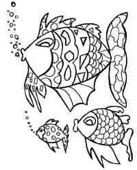Imagenes De Pescados Animados Para Colorear Pescados Animados