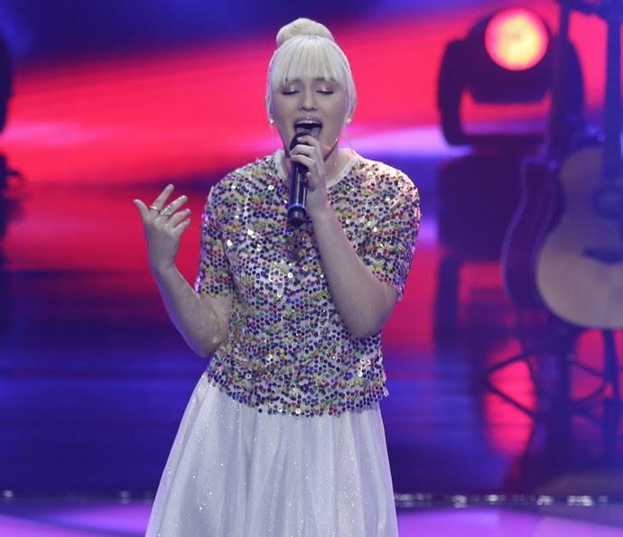 Gabriela Ferreira cantou sucesso de Anitta, mas em outra versão (Foto: Artur Meninea/Gshow)