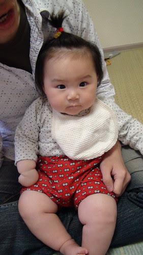Miyu, her new pants