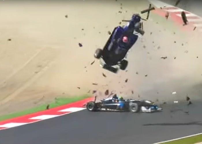 Acidente assustador na Fórmula 3 Europeia