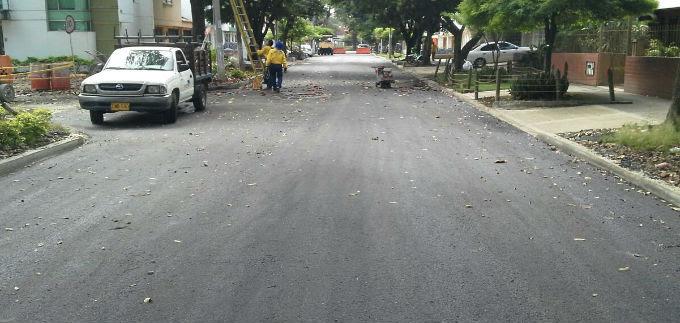Habitantes del barrio Vipasa estrenan vías. Se rehabilitaron con el plan bacheo