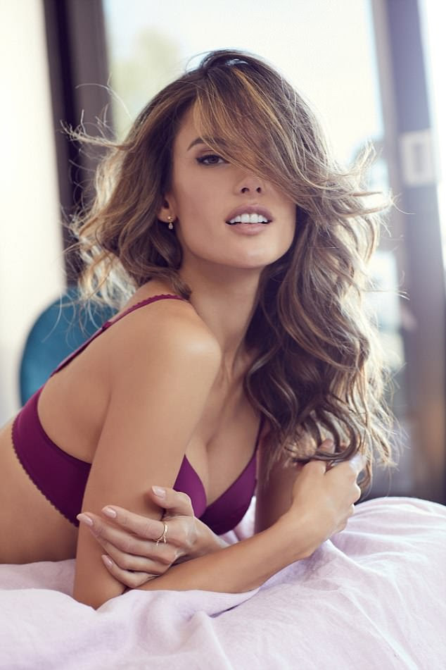 Dazzling: Alessandra looked captivating in the sultry lingerie snaps