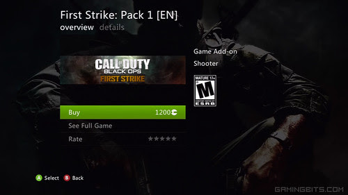 Call Of Duty Black Ops First Strike Map Pack 1 Xbox Live