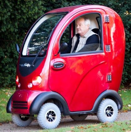 Cabin Electric Mobility Scooter 4 Wheel Powerfull 1200