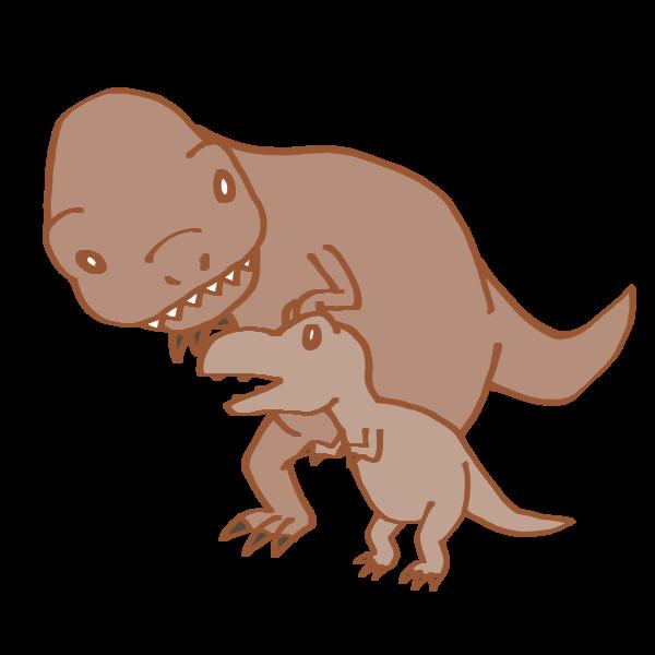 恐竜の親子のイラスト かわいいフリー素材が無料のイラストレイン