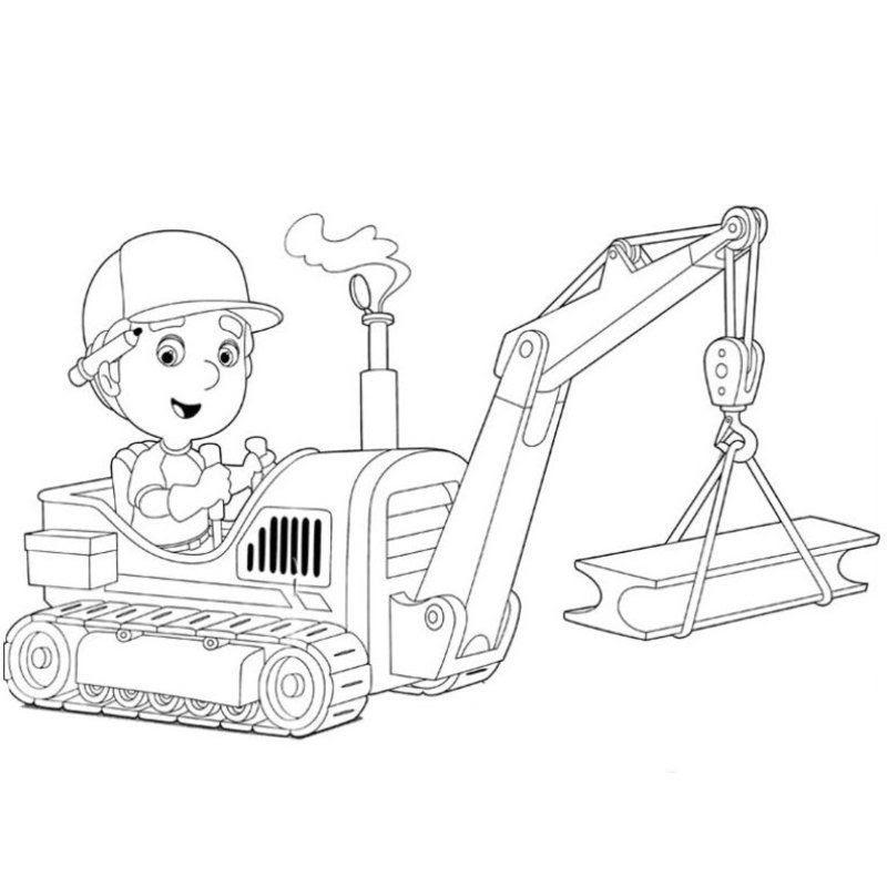 Coloriage Chantier Et Construction