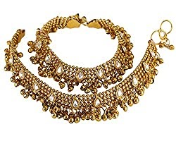 shinining Diva Gold Plated Anklets for Women (Gold)(5634a) of rs 2499 in just 499 .. grab it