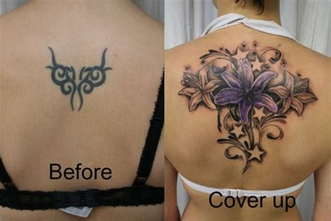 attractive lily cover tattoo girl upper