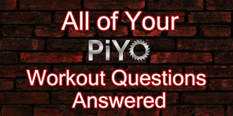 piyo workout faqs answered