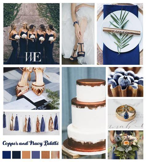 Wedding color theme navy and bronze   Wedding Mood Boards