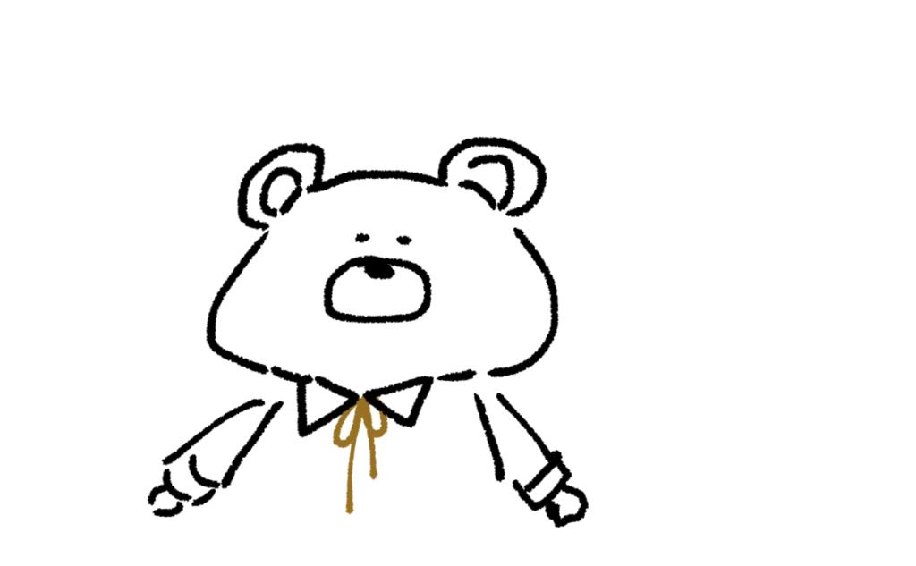 携帯 動物編2 ゆるい絵の簡単な描き方 イラスト きょうはなにをしよう
