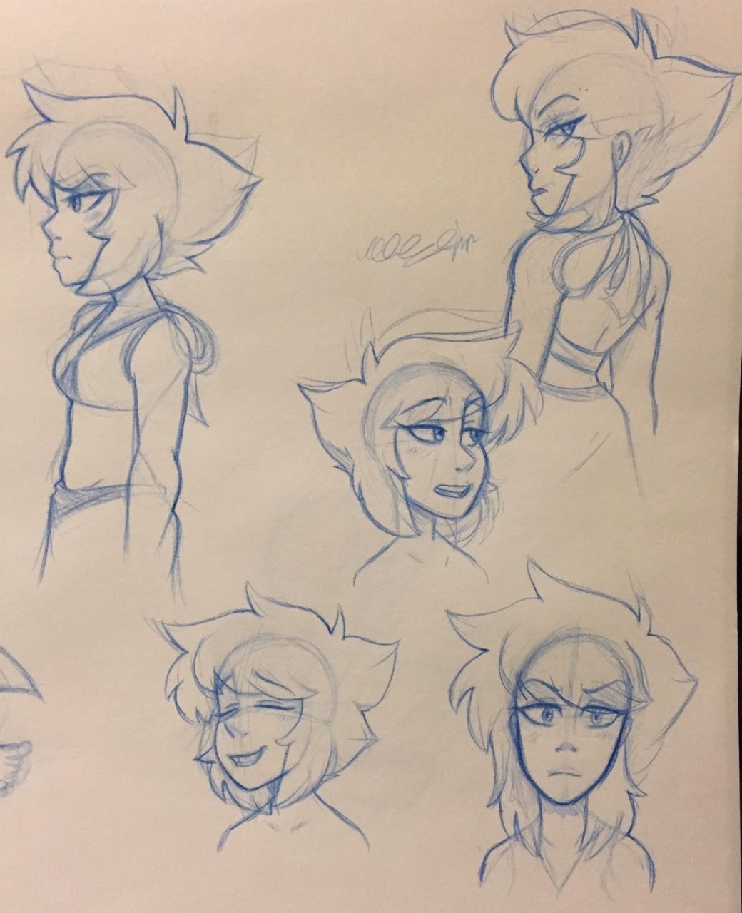 Sketches of lapis lazuli warm ups
