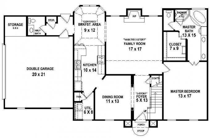 Awesome Floor Plans  For A 4  Bedroom  2 Bath  House  New