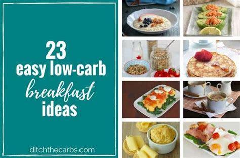 easy  carb breakfast ideas easy quick  sugar