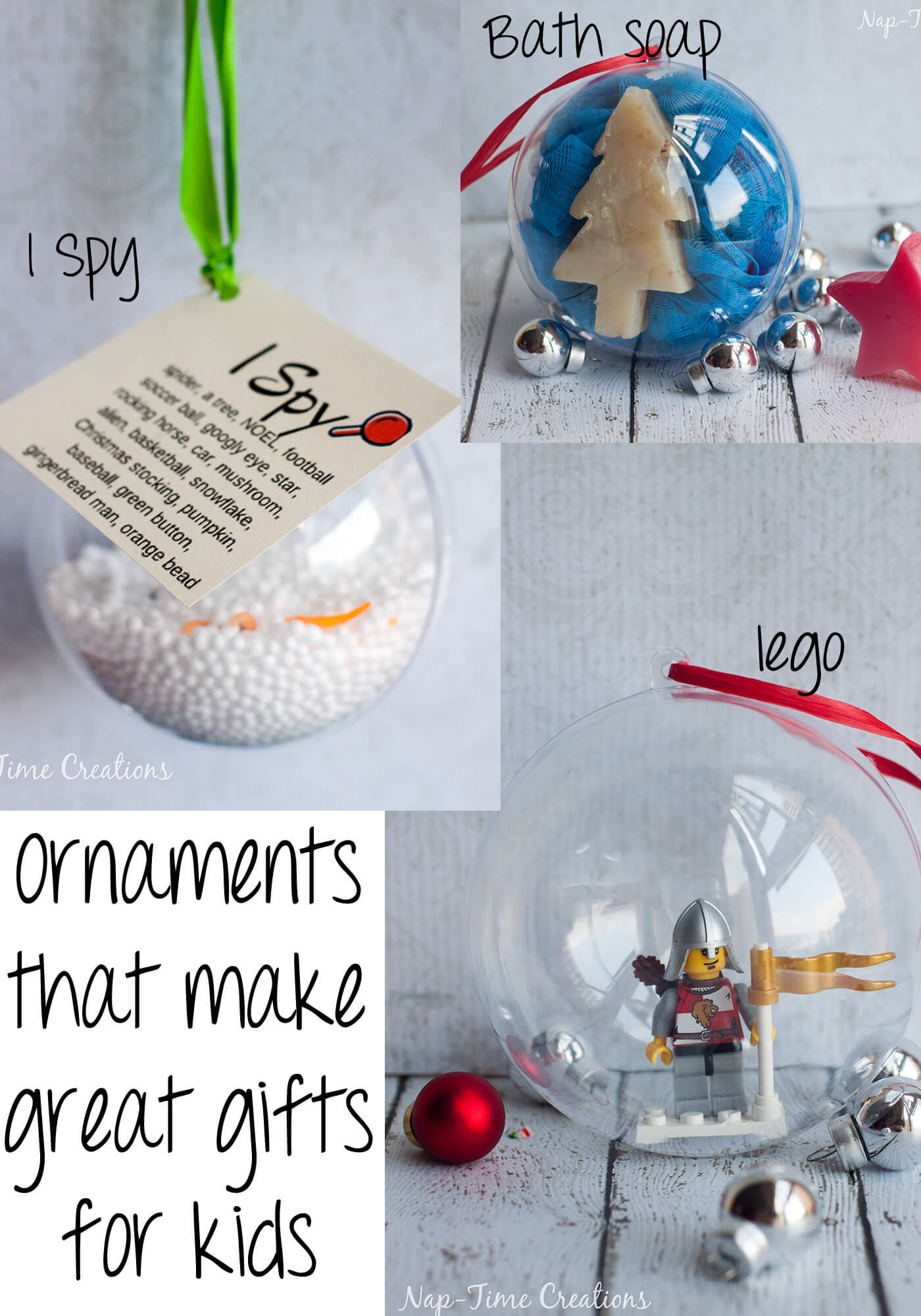ornaments for kids that make great gifts from Nap-Time Creations
