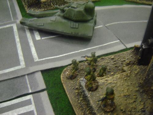 Militia squad on overwatch