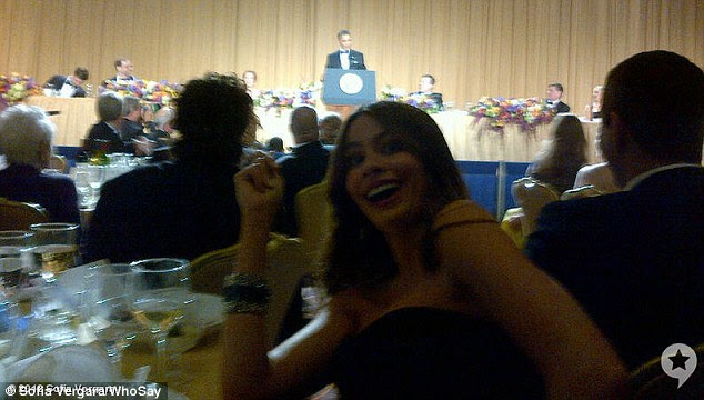 Star Struck: Sofia postou uma foto de si mesma com o presidente Obama fazer seu discurso