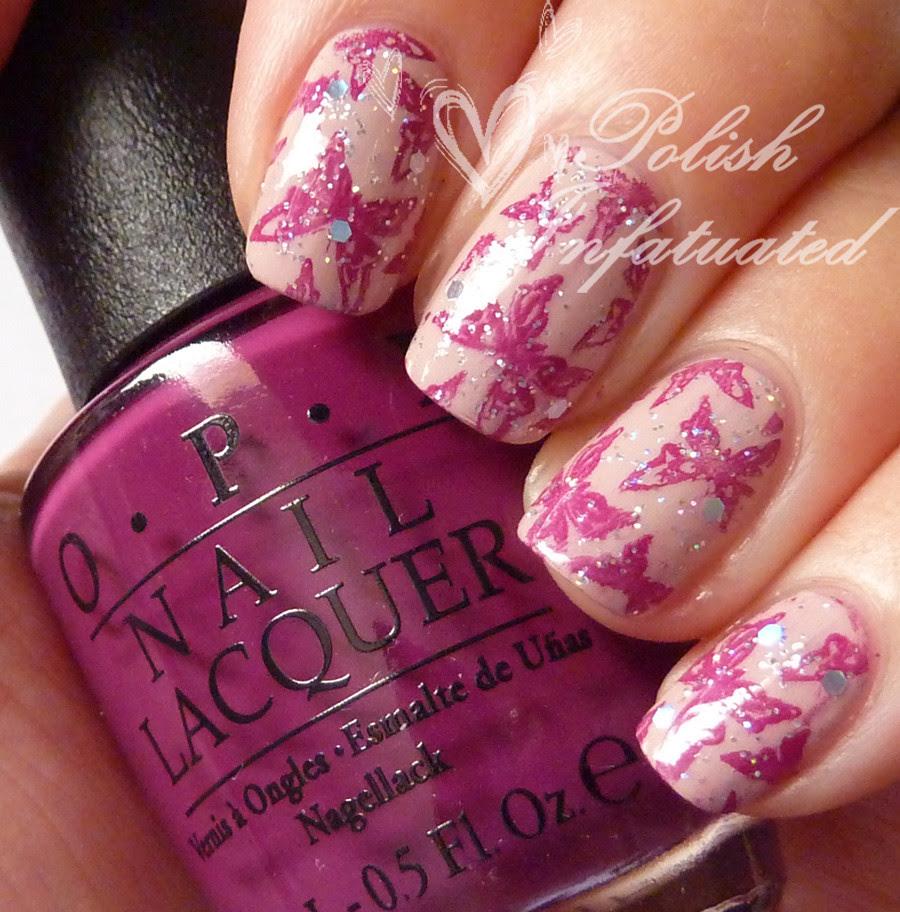 pink glittery butterflies1