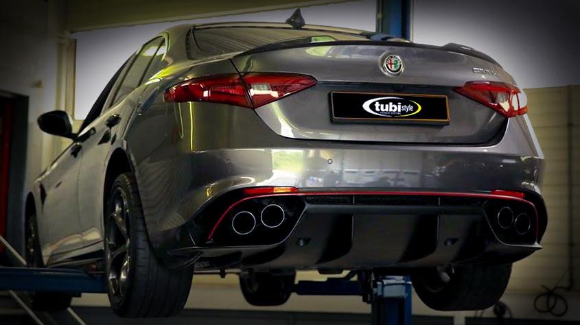 Alfa Romeo Giulia Quadrifoglio Tubi Style exhaust