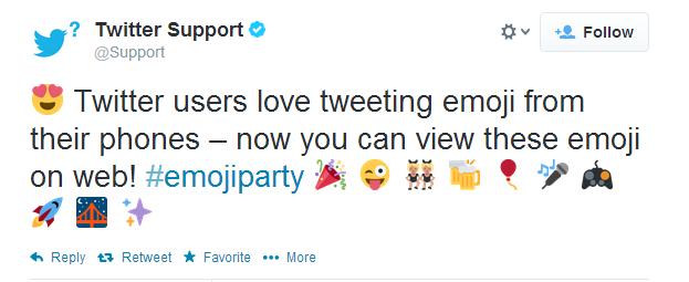 Twitter libera emojis à versão do microblog para PCs