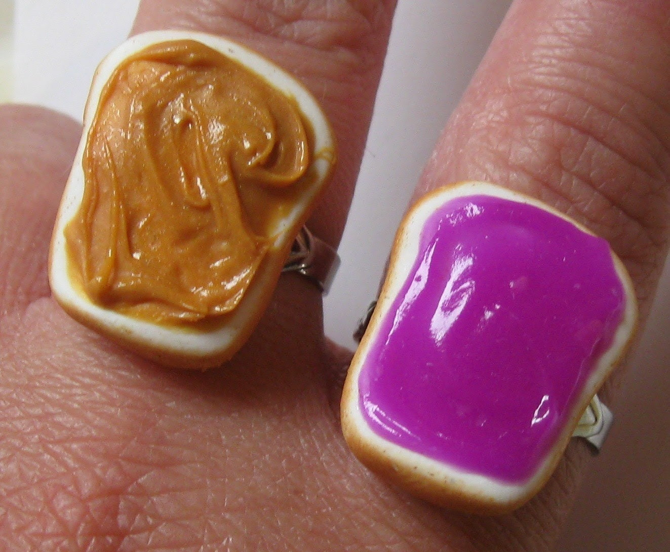 Peanut Butter and Jelly Rings, Grape, Best Friends Jewelry