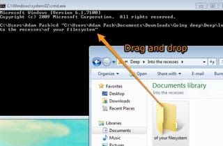 drag and drop command prompt