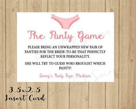 Panty Game Printable Enclosure   Lingerie Shower   Custom