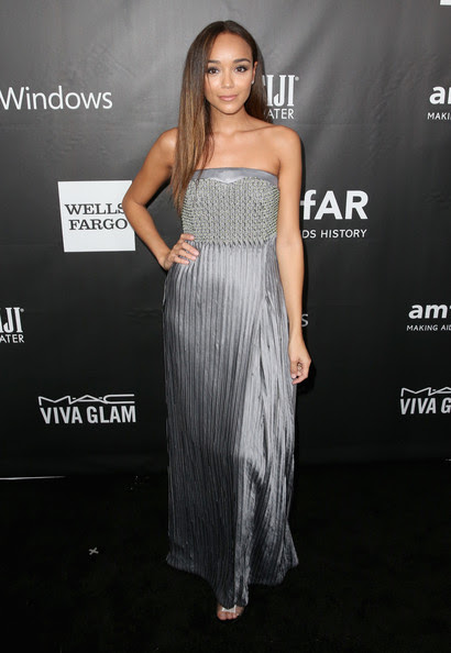 Ashley Madekwe in Armani