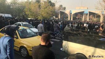 اعتراضات در مقابل دانشگاه تهران
