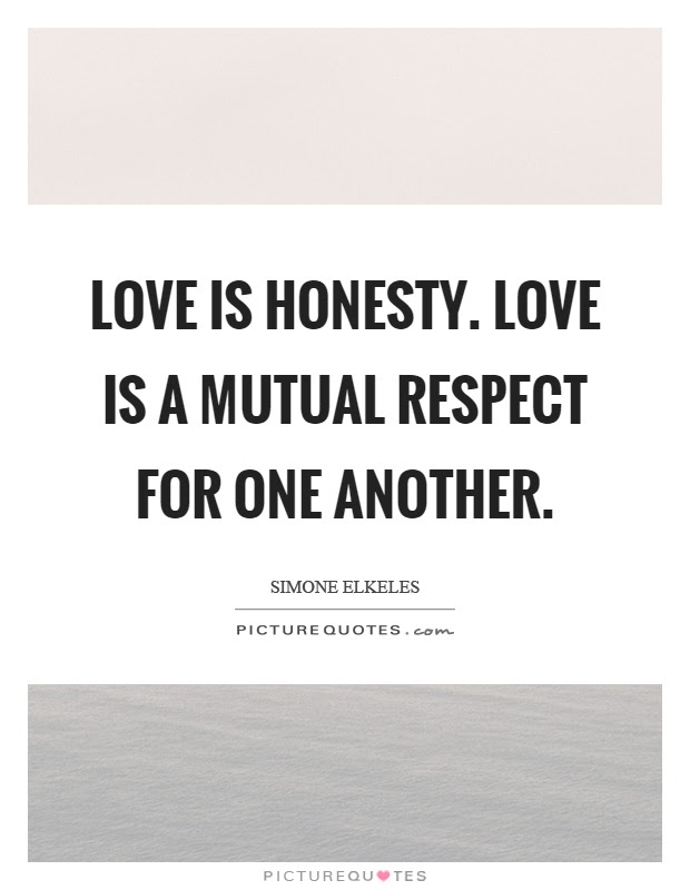 Love Is Honesty Love Is A Mutual Respect For One Another Picture