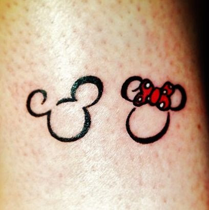 Black And White Mickey Mouse Tattoo On Arm Tattoomagz