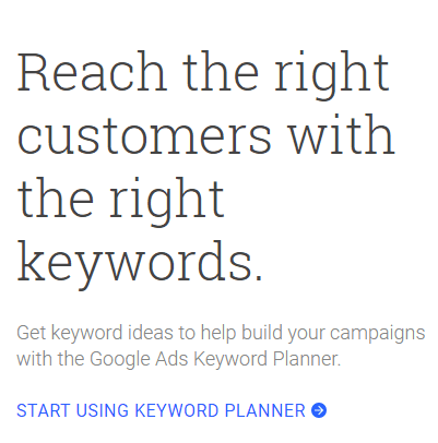 The most complete way to use the Google Keyword Planner