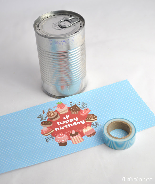 cake in a can with free printable labels