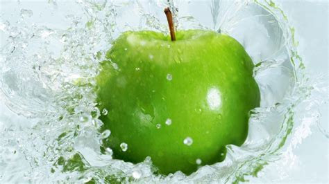 Green Apple Splash   Wallpaper #34774