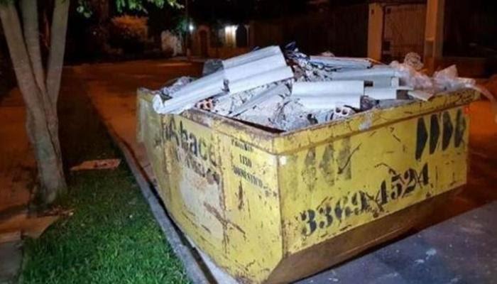 Feto é encontrado em caçamba de lixo em Curitiba
