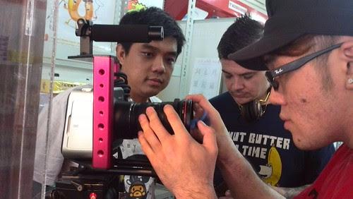 setting up the Blackmagic Camera