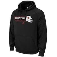 adidas Louisville Cardinals First Down Hoodie - Black