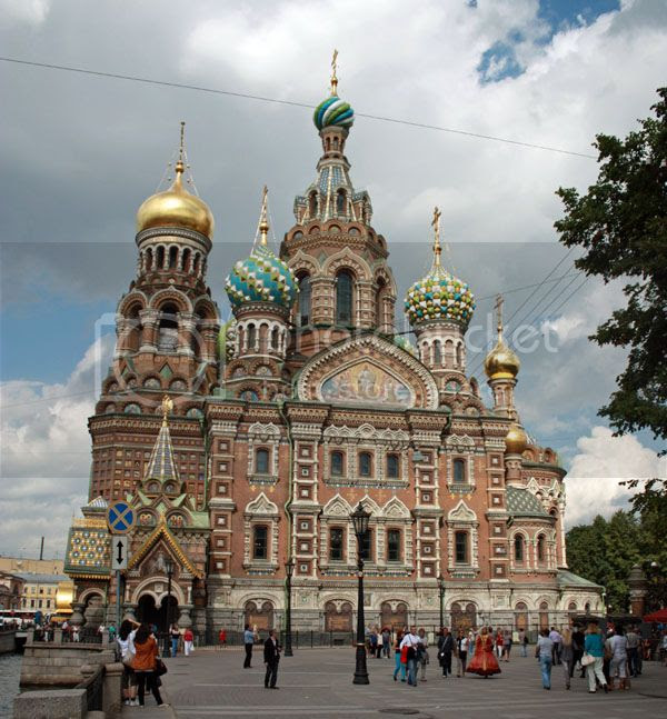Famous places in St Petersburg Russia