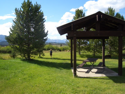Smiley Creek Campground shelter
